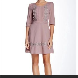 Doe & Rae lavender elbow sleeve dress